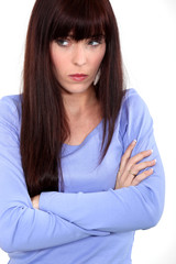 woman looking sad and angry