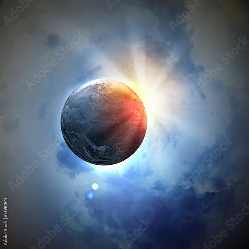 Obraz planety Ziemi w przestrzeni