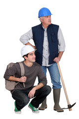A handyman and his trainee.