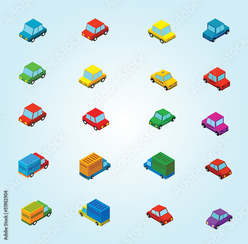 isometric cars