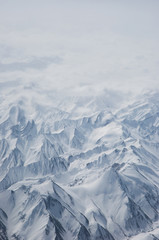 bird eyes view of Karakoram in Ladakh, India