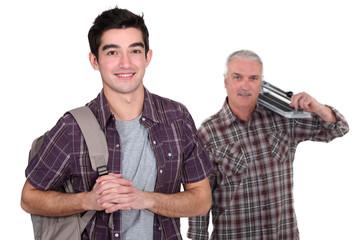 Teenage boy starting apprenticeship