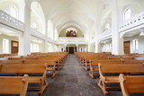 Benches and organ in Evangelical Lutheran Cathedral poster