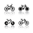 Set of transport icons - bikes