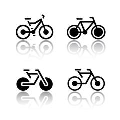 Set of transport icons - bikes