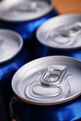 aluminium can with drink