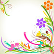 vector illustration of colorful flower