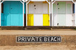 Private beach huts