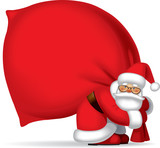 Santa Claus with sack