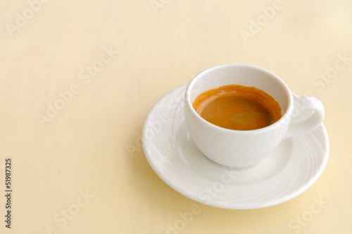 espresso coffee cup on table in cafe