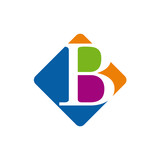 Vector color logo initial letter B