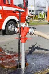 Hydrant - Feuerwehreinsatz