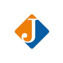 Vector color logo initial letter J