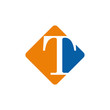 Vector color logo initial letter T