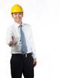 construction executive hand shake