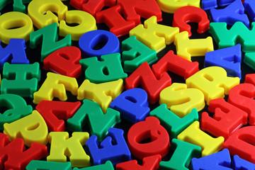 colorful  Letterpress letters