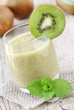 Refreshing kiwi and fresh mont smoothie