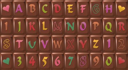Chocolate Bar Font ( Schokolade Tafel Schrift)