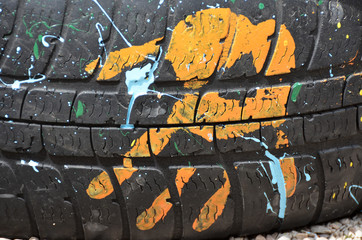 yellow palm tire