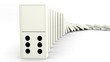 white or black domino