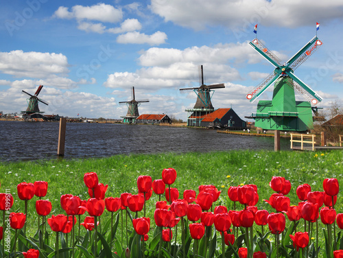 Windmills in Netherlands, Zaanse Schans