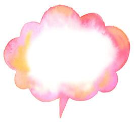 Pink speech bubble