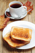 Toast and cup of coffee