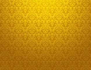 golden floral pattern wallpaper