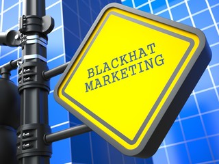 Business Concept. Blackhat Marketing Waymark.