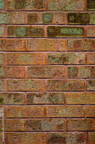 Red old brick wall - Texture and backdrop