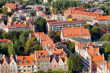 City of Gdansk Cityscape in Poland