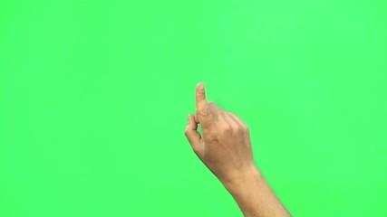 Green Screen Hände