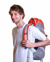 Student mit Rucksack