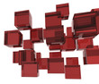Red 3d boxes / cube | Business Concept Wallpaper