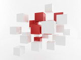 White 3d boxes / cube | Business Concept Wallpaper - 51999581