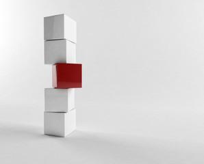 White 3d boxes / cube | Business Concept Wallpaper