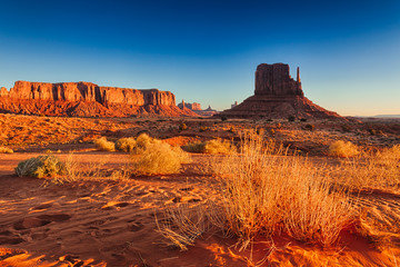Sunrise on Monument Valley, USA