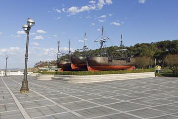 caravel sailing ship ,santander,Spain