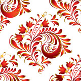 russian seamless pattern. hohloma ornament background