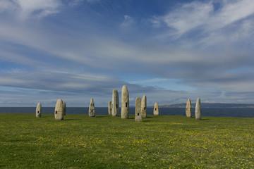 Menhirs Park Coruna, Galicia, Spain