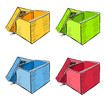 Open box in many colors set