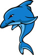 angry dolphin cartoon