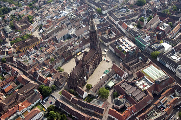 Aerial view of Freiburg,Black forest