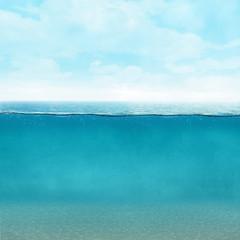 Underwater background vintage style