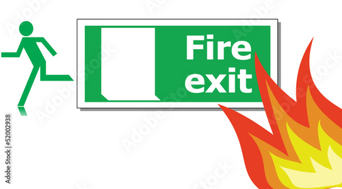 Safety first concept (Fire exit)