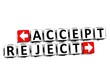 3D Accept Reject Button Click Here Block Text