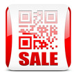 QR-Code SALE, button rot