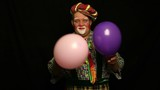 Clown and balloon