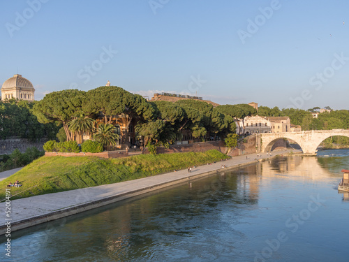 Roma, l'Isola Tiberina (veduta)