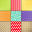 Set of nine simple geometric patterns